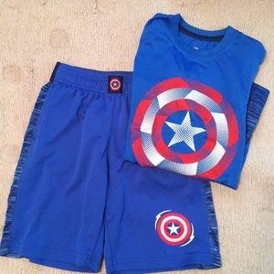 Captain America athletic set